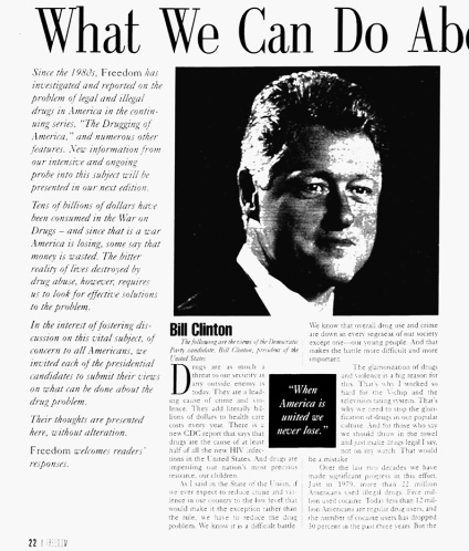Blog 22 Freedom Bill Clinton