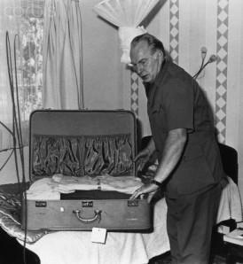 L. Ron Hubbard Packing Suitcase