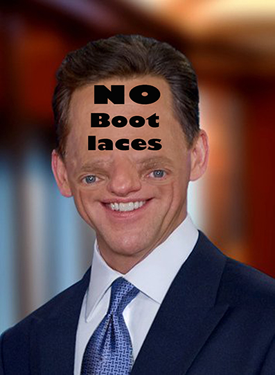 What's going on David Miscavige No Bootlaces